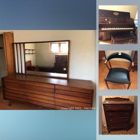 MaxSold Auction: This online auction features Teak Furniture, Stoneware, Mini Fridge, Sports Equipment, Crystal Collection, Upright Piano, Board Games, Toys, Chest Freezer, Lawn Mower, Skis, Shop-Vac and much more!
