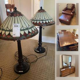 MaxSold Auction: This online auction features framed artwork, table lamps, area rug, Langostina pots, watches, milk glass, Fenton Glass, small kitchen appliances, Treadmill vintage books, power tools, MCM furniture, art glass, gas BBQ and much more!