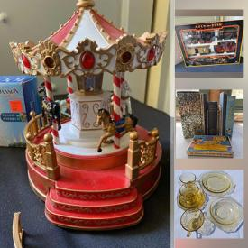 MaxSold Auction: This online auction features depression glass, fire king mugs, collectible teacups, Hallmark ornaments, vintage pyrex, children's books, vintage casserole dishes, milk glass, vintage McCoy pots, water fountains, material, yarn and much more!