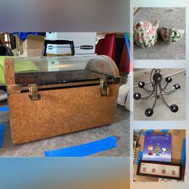 MaxSold Auction: This online auction features a Yamaha DTX drum kit, art items, Melissa and Doug table, wooden banks, electronics, chandelier, frames, teapot and cup by Harry and David, mirror, mixer and measuring cups, TV wall mount, clothing, wood, exerciser and much more!