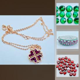 MaxSold Auction: This online auction features Solid gold jewelry, Emeralds, Topaz stones, Crystals, .925 sterling silver jewelry, precious stones and more.