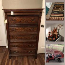 MaxSold Auction: This online auction features furniture, freezer, musical instruments, safe, electronics, art supplies, artwork, power tools, gardening, office supplies and much more.