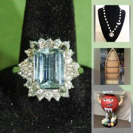 MaxSold Auction: This online auction features Aquamarine & Diamond Ring, Antique Miner's Lamp, Erik Karlsson Signed Jersey, Vintage Wooden Boxes & Bottles, Vintage Metal Lunch Box, Guitar, Collectible Teacups, Montreal Expos Nesting Dolls, Coca-Cola Collectibles, Silpada Jewelry, Stamps, Coins, Pet Supplies, Wooden Duck, Art Glass and much more!