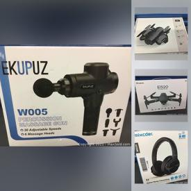 MaxSold Auction: This online auction features new in open box items such as massagers, microphone kit, gaming gear, tools, pet supplies, action cam, vacuums, deformation robot, led strip lights and much more!