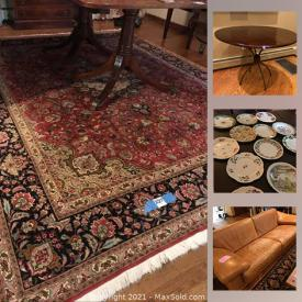 MaxSold Auction: This online auction features vacuums, hand tools, hardware, beach walker, car ramp, sporting equipment, leather sofa and loveseat, coffee table, Star Trek, electronics, Iran area rug, Fine china, patio furniture and much more.