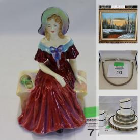 MaxSold Auction: This online auction features Uranium Glass, children's books, silver jewelry, Holston sculptures, Batman collectibles, Beer steins, Cast Iron figurines, telescope, comics, art pottery, black soapstone carvings and much more!