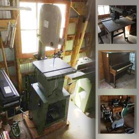 MaxSold Auction: This online auction features vintage piano, power tools, exercise equipment, wood lathe & dust collector, quilt loom, cedar chest, metal detector, Star Wars collectibles, jewelry box, fishing gear, golf clubs and much more!