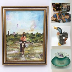 MaxSold Auction: This online auction features Sculptures, Figures, Signed Artwork, 14k White Gold Jewelry, Sterling Silver Jewelry, LPs, BOSE, Stoneware, Antiques, Art Glass, John Perry Resin, Mid Century Modern Statues, Signed Crystal, Murano Glass, Charles Dickens Books, Nintendo Wii and much more.