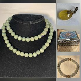 MaxSold Auction: This online auction features Sterling jewelry, Jade, Amber, Cinnabar pendants, bracelets, earrings, and necklaces. Home Improvement supplies including flooring, and water system and much more!