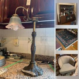 MaxSold Auction: This online auction features furniture such as vanity dressers, corner shelving units, TV stand, sofa bed, sofa, medical bed, kitchen table, china cabinet and more, sewing machine, lamps, cuckoo clock, dishware, glassware, crocks, crystal and glass, decanters and much more!