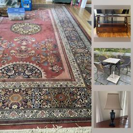 MaxSold Auction: This online auction features patio furniture, area rugs, art glass lamp, telescope, fan, heater, bedroom furniture and much more!