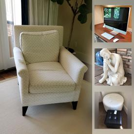 MaxSold Auction: This online auction features Office Supplies, Mannequin, Restoration Hardware Household items, Ottomans, Furniture, Janome Sewing Machine, Apple Monitor, Buddha Stature, jewelry, Outdoor Furniture and much more.