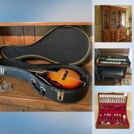 MaxSold Auction: This online auction features Vintage and MCM furniture, Instruments including Mandolin, Organ, Violin. Toronto Maple Leaf's collectibles and clothing, Vintage Toys, Games, Collectibles and Novelties, Brass sculptural decor, Charlie Chaplin clock, Purses, Handbags, Women's Clothing, Shoes and Accessories, Beds, Linens, Small Kitchen Appliances, Le Creuset cookware, Jewelry, Perfumes, Artificial Plants and Flowers, Signed Original Art & Numbered Prints, Stereo Equipment and Components, Bose, Porcelain figures including Lladro, Kaiser, Royal Doulton, Office supplies, TV, Holiday and religious decor, Health and Mobility aids and much more!