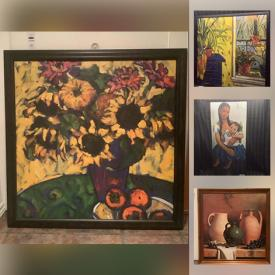 MaxSold Auction: This online auction features Unframed and Framed Wall Art, Plaques of Abstract Art, Landscapes, Portraits, Still Lifes and much more!