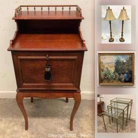 MaxSold Auction: This online auction features MCM Teak Furniture, Antique Furniture, Exercise equipment, Toys, Stone Bookends, Noritake China, Area Rugs, Collectible Teacups, Satsuma Vase, Sasaki Stemware, Ladies Evening Wear, Leather Jackets, Swarovski Crystal Figurines and much more!