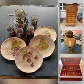 MaxSold Auction: This Charity/Fundraising Online Auction features Collector Plates, Board Games, Mason Jars, Art Pottery, Toys, Small Kitchen Appliances, TVs, Wicker Furniture, Power Tools and much more!