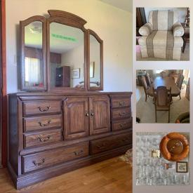 MaxSold Auction: This online auction features Vintage Wringer Washing Machine, Vintage Stove, Vintage Farm Equipment, Vintage Furniture, Children's Books, Vintage Toys, Collectible Teacups, Bone China, Souvenir Spoons, Art Pottery, Glass, Art Glass, Royal Doulton Figurines, Willow Tree Figurines, Hummel Goebel Figurines, Comic Books, Collector Plates, LPs and much more!