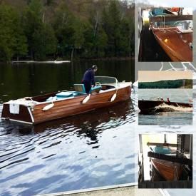MaxSold Auction: This online auction features a Classic Duke 19 foot 1962 Playmate Boat.
