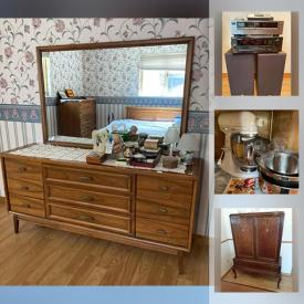 MaxSold Auction: This online auction features recliners, side tables, electronics, room dividers, media, statues, artwork, kitchen appliances, glassware, bakeware, kitchen aid mixture, antique furniture, outdoor furniture, BBQ and much more.