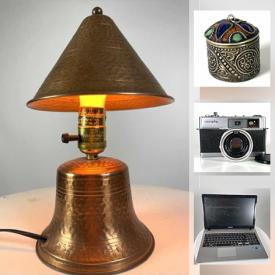 MaxSold Auction: This online auction features Cameras, Area Rugs, Tablas, Folk Drum, Antique Lampshades, Kimonos, Virtual Reality Headset, Art Glass, Costume Jewelry, Antique Broaches, Laptop, Retro Toys, Men's & Women's Clothing & Shoes, Traditional Indian Necklaces and much more!