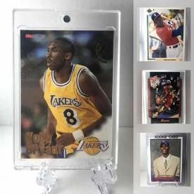 MaxSold Auction: This online auction features 1908's and 1990's Pro Sports All Star trading cards including Kobe NBA hoops rookie card, Michael Jordan baseball rookie, Lebron James second year Bowman 04-05, and the Chris Bosh rookie card, Baseball, Hockey, Basketball, including some complete sets and much more!