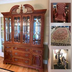MaxSold Auction: This online auction features basketball goal, art by Red grooms, basketball art, cartoon cells, vintage furniture, aquariums, collectible dolls, baseball art, signed baseballs, Foosball table, Air Hockey table, exercise equipment, sports equipment and much more!