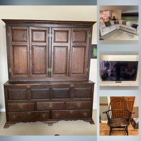 MaxSold Auction: This online auction features African Beaded necklaces, sectional sofa, original framed artwork, electronics, TV, Haitian steel drum art, ceramic dishes, Bronze sculpture, vintage Maps, ONDA stools, antique furniture and much more!