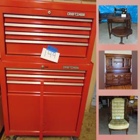 MaxSold Auction: This online auction features adjustable bed, vintage furniture, small kitchen appliances, milk glass, fishing gear, snowblower, generator, Canoe, lawnmower, bike, small kitchen appliances, collectible toy trucks, Nascar collectibles, large safe, tools, vintage dolls and much more!