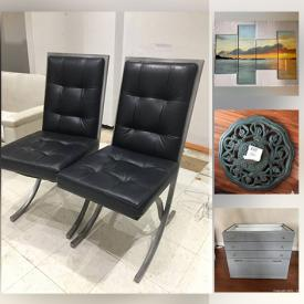 MaxSold Auction: This online auction includes kitchen cabinets, double porcelain sink, faucets, MCM table, leather chairs, wall art, Sony photo printer, shelving, and more!