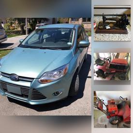 MaxSold Auction: This online auction features Ford Focus, Gold Sovereign Pendants, Diamond Rings, Coins, Sterling Jewelry, Collectible Teacups, Carvings, Pottery, Pet Supplies, Small Kitchen Appliances, Vintage Books, TV, Cameras, Sewing Machines, Fishing Gear, Power Tools, Yard Tools and much more!