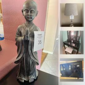 MaxSold Auction: This online auction features Home theater seating, Turkish carved wood chest, paintings, DSLR camera, African drums and art, rugs, clock, dresser, King and Queen beds, TVs, rollerblades, electronics and much more!
