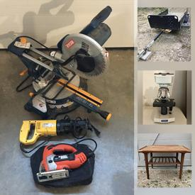 MaxSold Auction: This online auction features antique & vintage furniture, Sports Equipment, Outerwear, Yard Tools, Chandeliers, Power Tools, Portable Compressor, Toys, Rain Barrels, Hoverboard, Slab of Countertop, Antique Cast Iron Stove, Utility Trailer and much more!