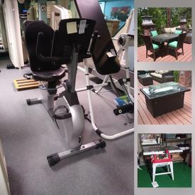 MaxSold Auction: This online auction features furniture such as wooden armoire, office chairs, massage recliner, dressers and fabric sofas, Kirkland freezer, exercise equipment, wall art, glassware, outdoor furniture, fire pit table, Weber grill, planters, area rugs and much more!