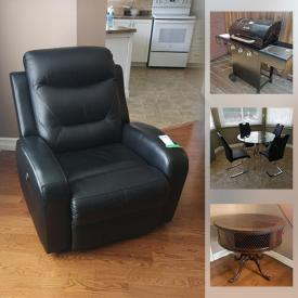 MaxSold Auction: This online auction features Royal Doulton, crystal ware, furniture such as table with chairs, power recliner, buffet with hutch, and Ethan Allen side tables, dishware, Char-Broil BBQ, cookware, wall art, Danby bar fridge, area rugs, lamps, Samsung Blu-Ray player and much more!