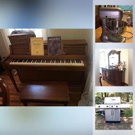 MaxSold Auction: This online auction features area rugs, Thomasville wall unit, collectible teacups, jewelry, leather furniture, patio furniture, Sleigh bedframe, sports cards, sports memorabilia, Small kitchen appliances, exercise equipment, bikes, kids golf clubs and much more!