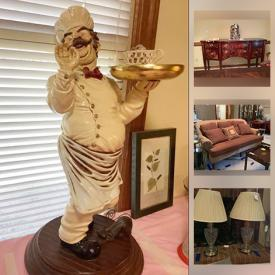MaxSold Auction: This online auction features Broyhill furniture, Sherrill settee, lamps, art, tea cart, crystal, bird figurines, shelves, kitchen items, area rug and much more.