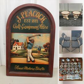 MaxSold Auction: This online auction features collectible cards, crystal ware, fine china, vintage advertising, Royal Doulton, wooden stools, holiday decor, costume jewelry, K'nex, Disney, dishware, DVDs, model cars, vintage toys, wedding items, board games and much more!