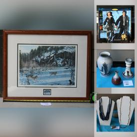 MaxSold Auction: This online auction features Jewelry, Popular TV & Movie Character dolls, Dollhouse Furniture and Miniatures, Signed Original Artwork, Vintage pottery, Dresses, Sporting goods & gear, Barbie dolls, Stereo Equipment & Components, Stamp collections and much more!