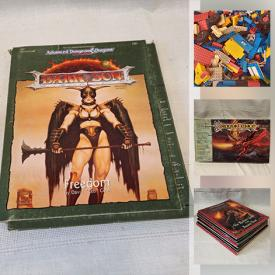 MaxSold Auction: This online auction features Dungeons & Dragons and other Fantasy Role-Play Character Strategy gaming Collectibles including Books, Magazines, Posters, Cards, Games, Comic Books, Ephemera. Collector's Plates, Sports Trading cards, Toys, Legos Coca Cola keepsakes, Home Repair & Improvement Equipment and Supplies, Workshop Power Tools & Equipment, Hand Tools & Hardware, Vintage light fixtures and much more!