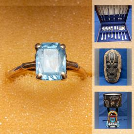 MaxSold Auction: This online auction features Jade jewelry, silver jewelry, watches, vintage pyrex, Glass Bonsai trees, art pottery, depression glass, costume jewelry and much more!