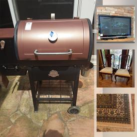 MaxSold Auction: This online auction features furniture, household items, decor, media room furnishings such as a popcorn machine, TV's electronics, projectors. Artwork, medical equipment, jewelry and much more.