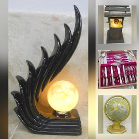 MaxSold Auction: This online auction features Murano Art Glass, Signed Original Art & numbered Prints, Art Deco & MCM decor, Cloisonne, Stained Glass art, Bakelite Buttons, Carnival Glass, Carved wood Sculptures, Artisan Pottery, Aquarium Glow lights and much more!