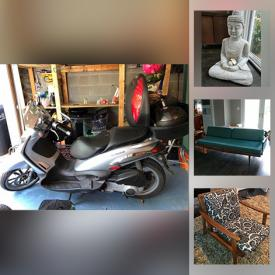 MaxSold Auction: This online auction features Piaggo Scooter, Yamaha Guitar, Sohmer & Co. Piano, MCM Furniture, MCM Office Furniture, Lamps, Area Rugs, Bose System, Le Creuset Cookware, Doll House, Outdoor Play House, Outdoor Furniture, Signed Art, Gardening, Tools, Tool Boxes and much more.