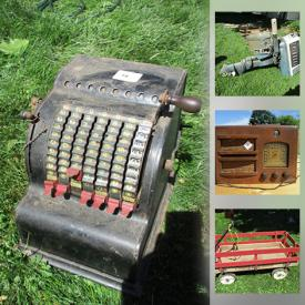 MaxSold Auction: This online auction features Vintage Tools, Yard Tools, Power Tools, Chainsaws, Antique Golf Clubs, Antique Radio, Outboard Motor, Snow Blower, Air Compressor, Vintage Bikes and much more!