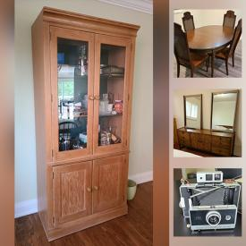 MaxSold Auction: This online auction features Pine Furniture, Queen Bedroom Set, Table Lamps, Camera Equipment and much more!