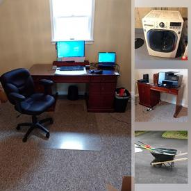 MaxSold Auction: This online auction features a generator, power washer, vacuums, lamps, bookcase, printer and briefcase, office items, vintage Hitachi TV, media cabinet, wall clocks, washer and dryer, Whirlpool refrigerator, tools, gravity chairs, chair, wheelbarrow and much more!