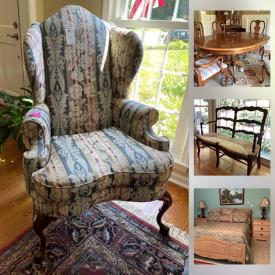 MaxSold Auction: This online auction features Ethan Allen Bedroom Set, Furniture, Rugs, Mirror, Lamps, Art, Coin Collection, Barbies, Vintage Typwriter, Cast Iron, Costume jewelry, Silver jewelry, Gardening, Ladders and much more.