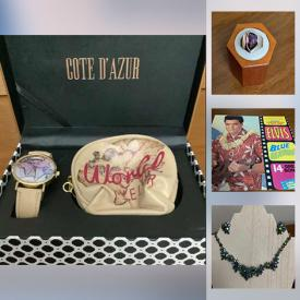 MaxSold Auction: This online auction features jewelry, vintage books, collectible olympic pin, LPs, pearl necklace, vintage photographs and much more!