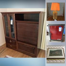 MaxSold Auction: This online auction features art glass, art pottery, office supplies, milk glass, vintage toys, fishing gear, Retro kitchenware, board games, BBQ grill, vintage golf clubs, tool locker, vintage pyrex and much more!