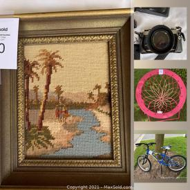 MaxSold Auction: This online auction features artwork, telescope, small kitchen appliances, board games, legos, glass fruit, fire stands, star wars collectibles, vintage toddler bed, kid's bike, BBQ, Holly Hobbie figurines and much more!